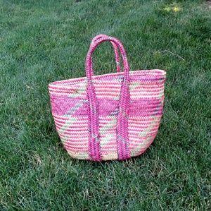 Ethnic Print Basket Purse